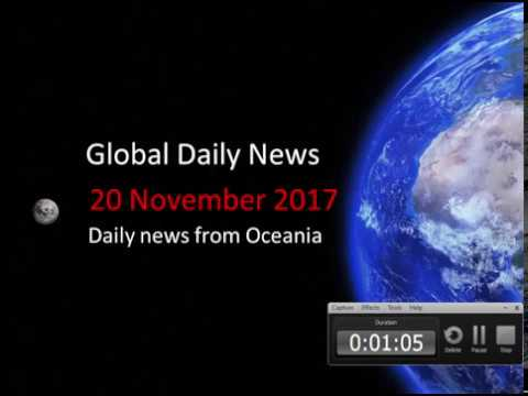 20 November 2017 - News Headlines from Oceania