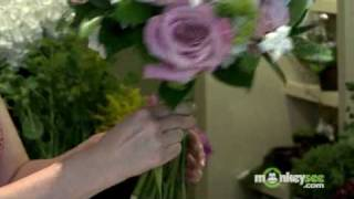 Wedding Bouquet - How to Add Ribbon and Finish the Bouquet