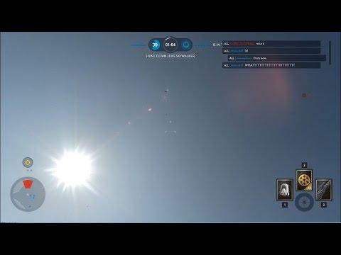 Star Wars Battlefront - Flying Luke in Hero Hunt  (Hacker)
