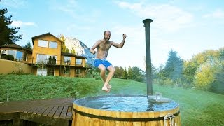 Taking a Bath Like a Boss in Patagonia