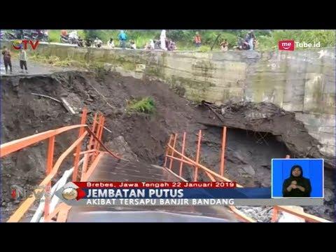 Video Amatir Detik-detik Jembatan di Brebes Putus Diterjang Banjir Bandang - BIS 22/01