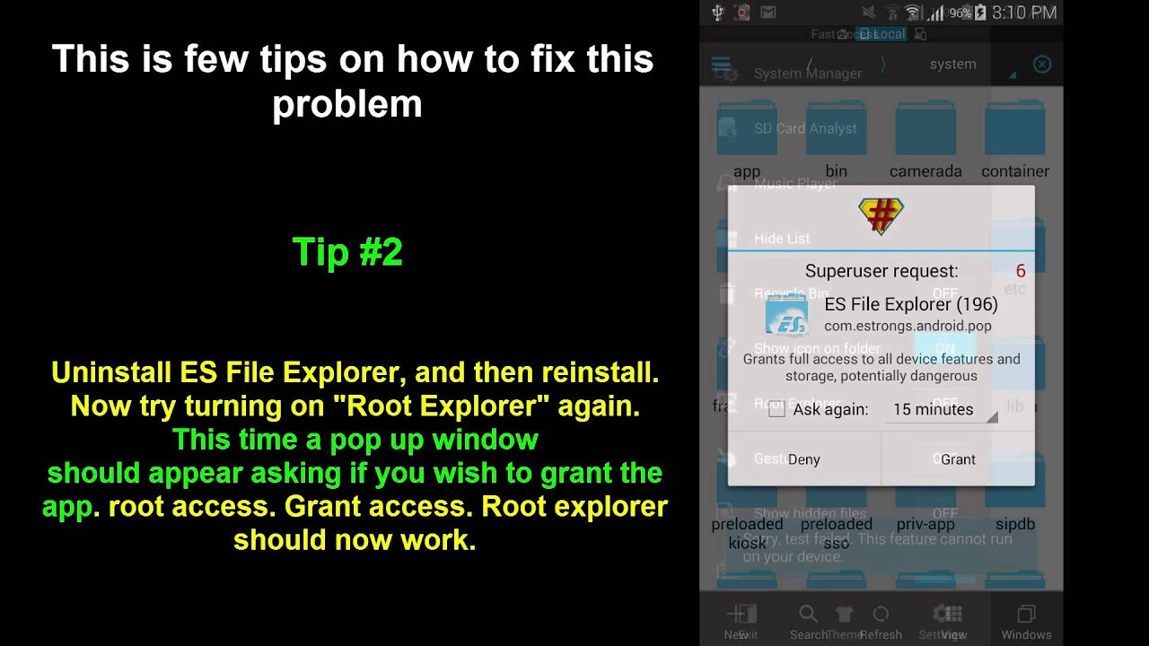 How to Fix Sorry, test failed  This feature cannot run on your device  root  explorer