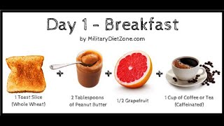 ★ THE MILITARY DIET - LOSE 6/7 POUNDS per WEEK - The most EFFECTIVE FAT LOSS meal plan EVER★