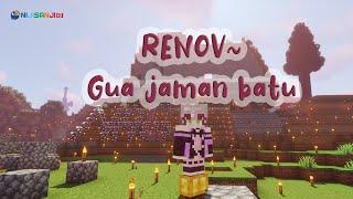 〔Minecraft〕Renovasi Gua Zaman Batu jadi Rumah【NIJISANJI ID   NAGISA ARCINIA】