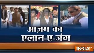 Azam Khan Campaigns for his Son, Hits-out at Yogi Adityanath and Sakshi Maharj