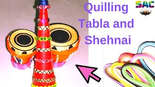 Paper Handmade Quilling 3D Tabla Shehnai HD | Home made Musical Instument