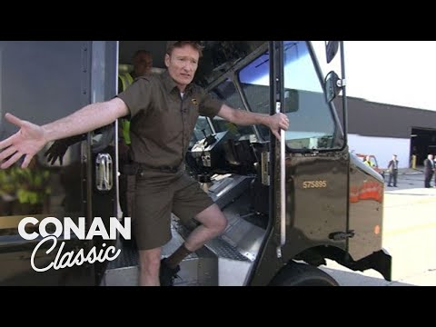 Conan Becomes A UPS Deliveryman  'Late Night With Conan O'Brien'