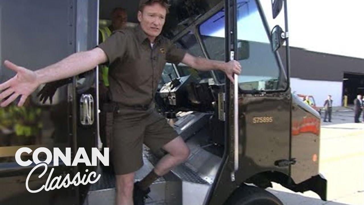 Download Conan Becomes A UPS Deliveryman | Late Night with Conan O'Brien
