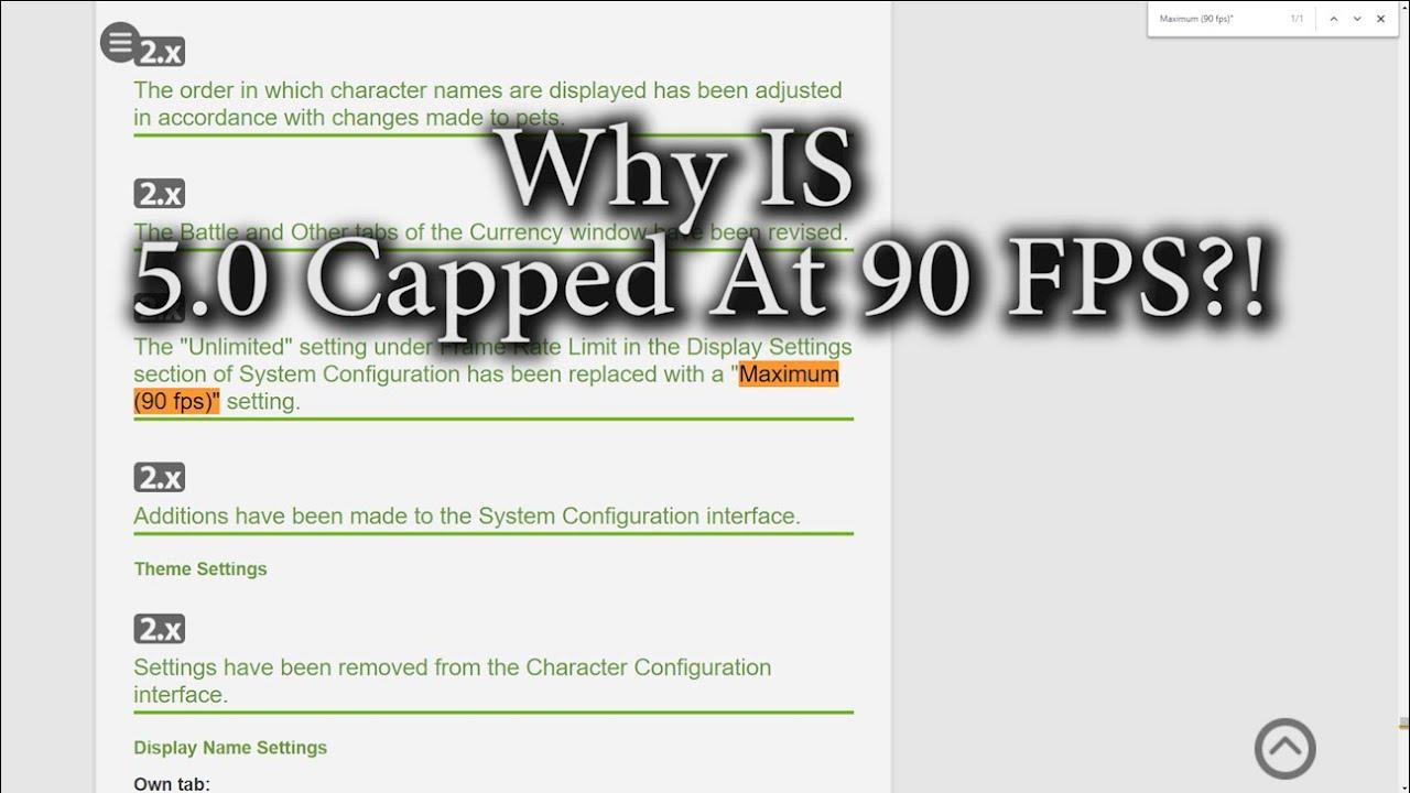 FFXIV: Shadowbringers 90 FPS Limit?!!