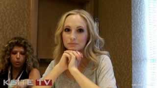 Candice Accola (Caroline) VAMPIRE DIARIES Interview - Comic-Con 2013