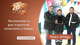 Reconocimiento 20 años de servicio - Pedro Ortega