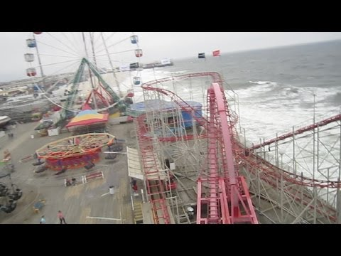 Looping Coaster front seat on-ride HD POV Funtown Pier Seaside Heights New Jersey Shore