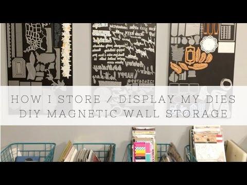 DIY Magnetic Die Storage Panels I Craft Storage Ideas