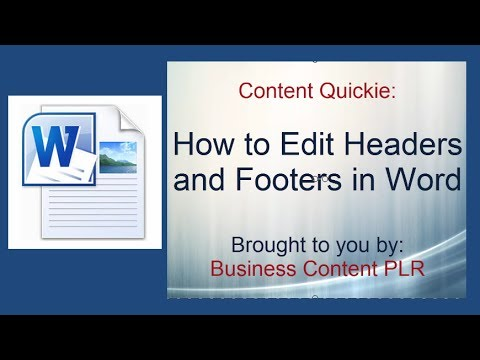 How to Edit Headers and Footers in Your PLR Word Doc