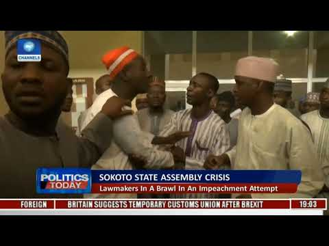 Sokoto State Assembly Crisis: Lawmakers In A Brawl In An Impeachment Attempt