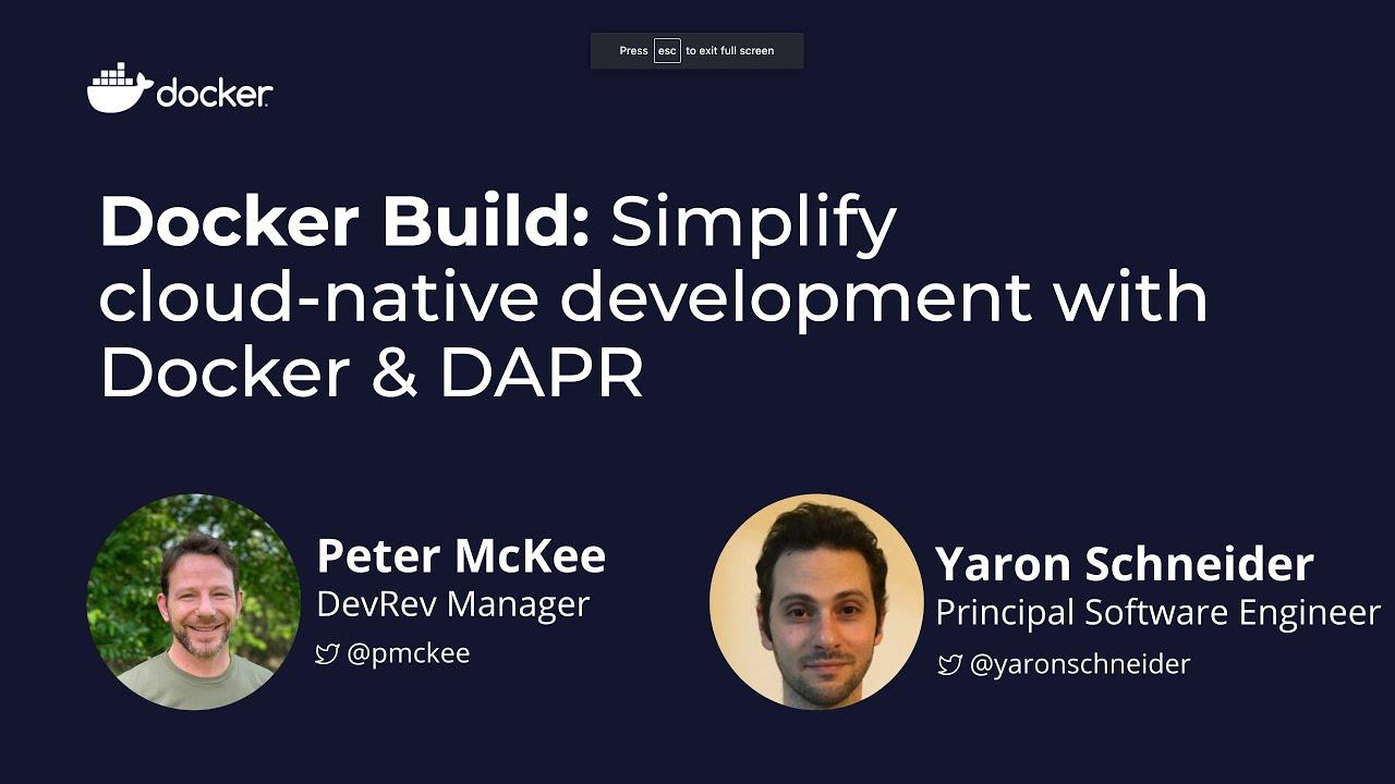 Docker Build: Simplify Cloud-Native Development with Docker & DAPR