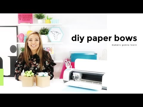 DIY Paper Bows for Gift Giving