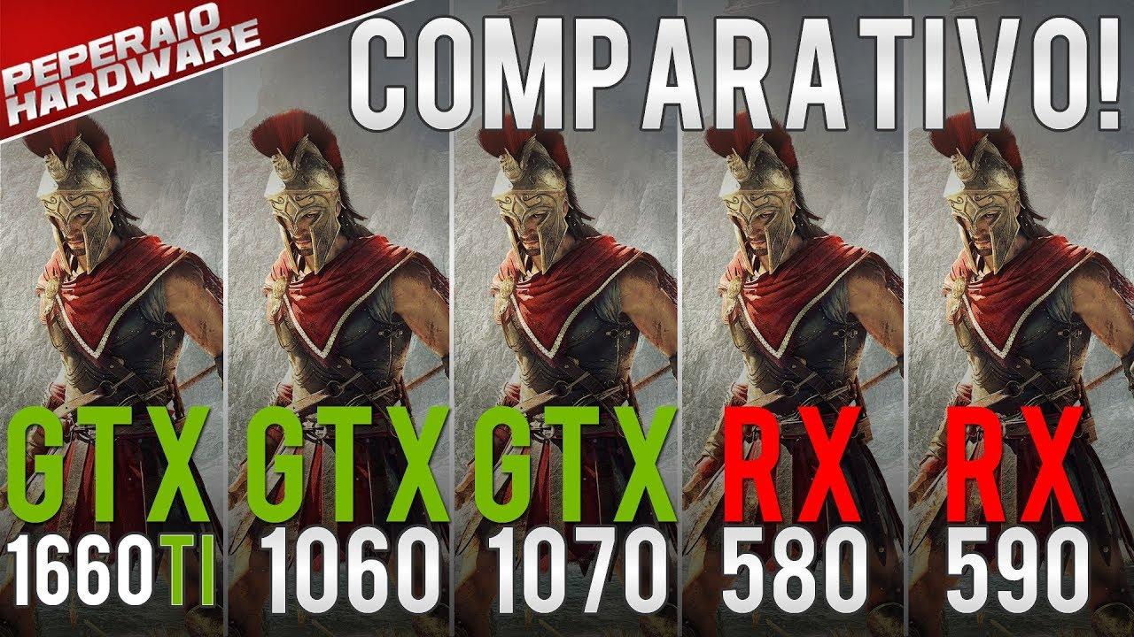 GTX 1660 Ti Benchmark vs GTX 1060, GTX 1070, RX 580, RX 590, Vega 56 & RTX  2060 (1080p 1440p PT-BR)