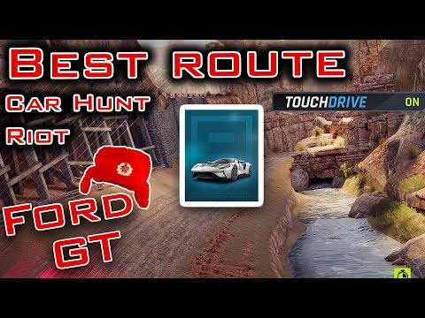 Asphalt 9: Best route using touchdrive for US Wilderness, US Midwest. Car hunt riot FORD GT