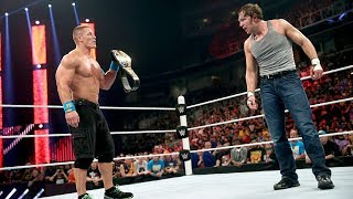Dean Ambrose answers John Cena's first U.S. Open Challenge: Raw, March 30, 2015