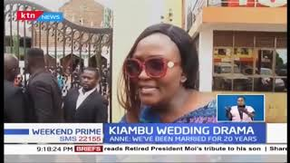 Drama ensued at a church wedding in Kiambu as a woman claimed to the wife of the groom