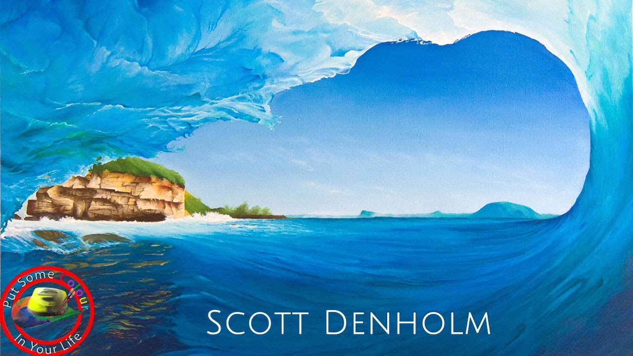 Girl On Surfboard Wallpaper How To Paint Seascapes In Acrylic With Scott Denholm I