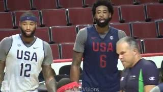 Kevin Durant, Carmelo & More SCRIMMAGE! Team USA Basketball Go AT IT in Chicago Practice Scrimmage