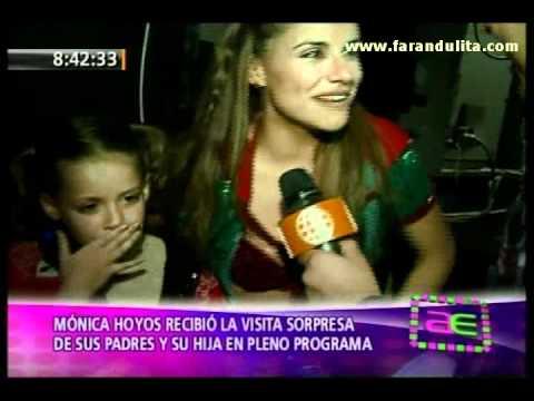 America Espectaculos 04-07-2011 Monica Hoyos recibio la visita de sus padres y su hija thumbnail