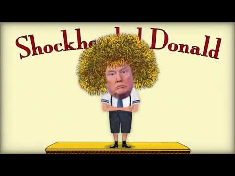 Shockheaded Donald and Hillary alone at home