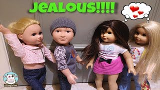 Miley Gets Jealous with Jackson!  American Girl Doll Crush