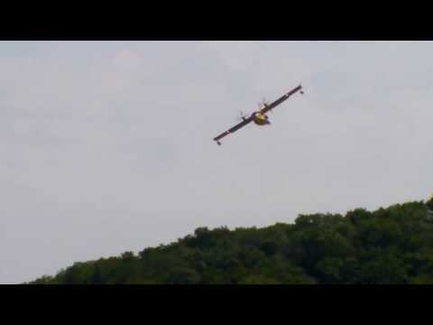 Ontario Ministry of Natural Resources Water Bomber in action