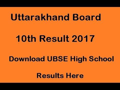 Uttarakhand Board 10th Result 2017, Download UBSE High School Results