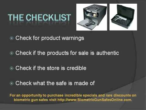 Biometric Gun Safe Checklist: What to look for when buying