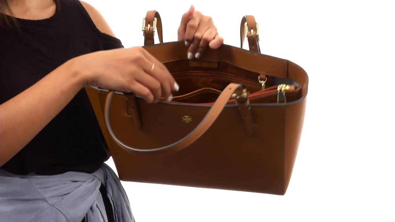 d0918f614e1f Tory Burch York Small Buckle Tote SKU 8814402 - YouTube