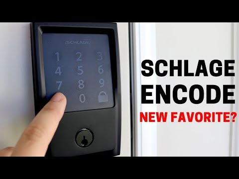 Schlage Encode: Super Sleek, Matte Black WiFi Lock