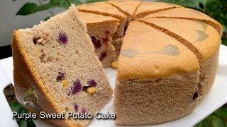 สูตรเค้กมันม่วง Purple Sweet Potato Cake Recipe