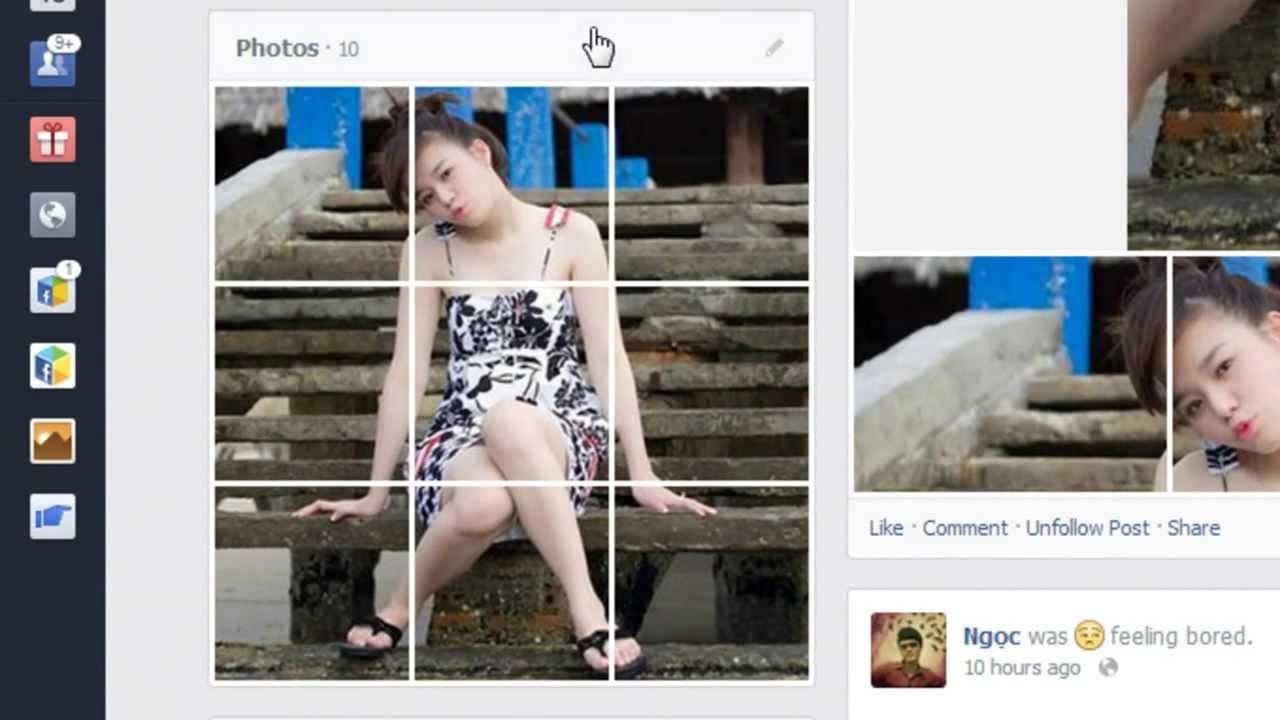 [PS_Tut] Cắt ảnh để tag trên Facebook album bằng Slice Tool trong Photoshop