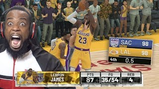Down By 3 Lebron James Buzzer Beater Shot For Overtime! NBA 2K19 MyCareer Ep 43
