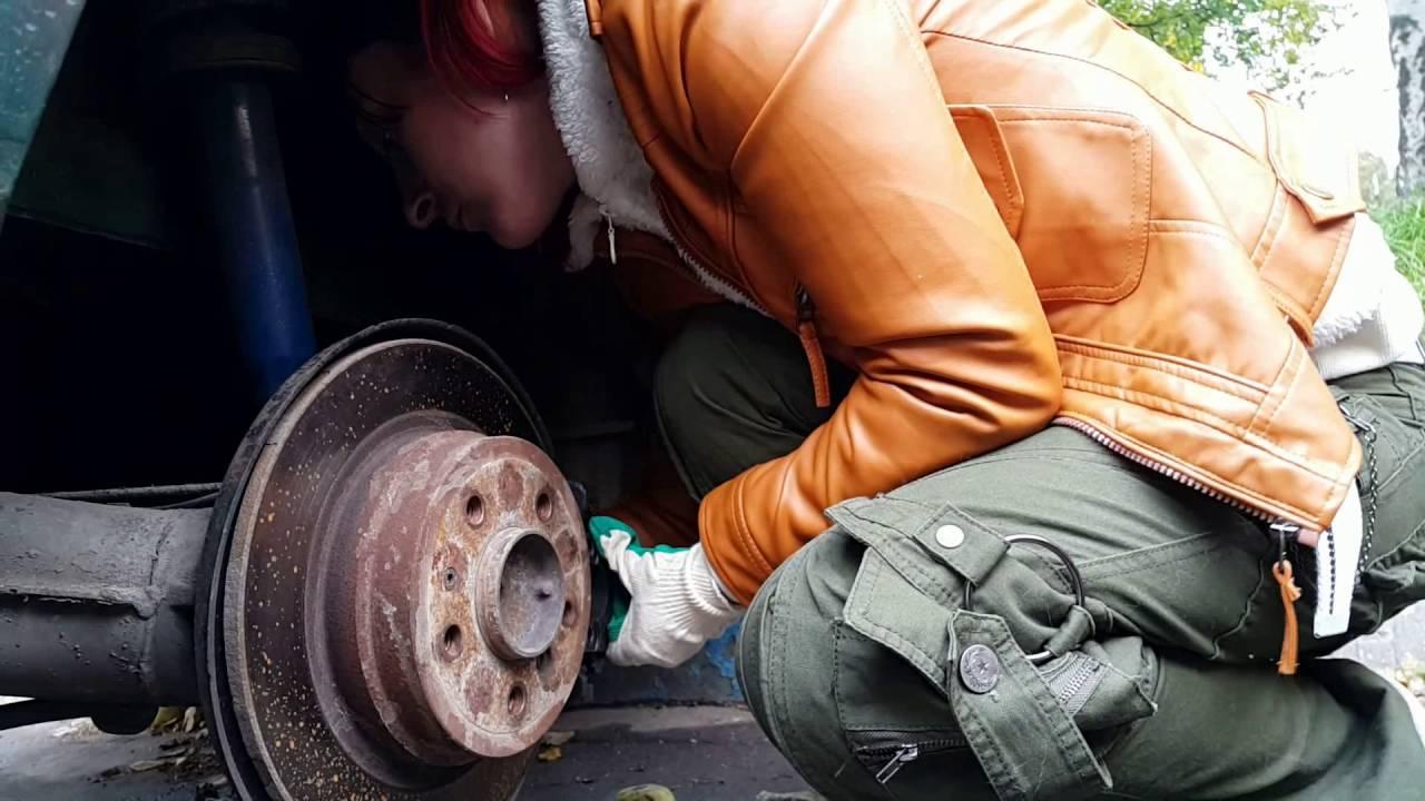 BMW E34 GREZA тормоза суппорта бмв женский ремонт