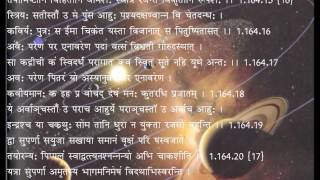 Asyavamiya sukta with  lyrics 1 164 RV RISHI DEERGHATAMAS