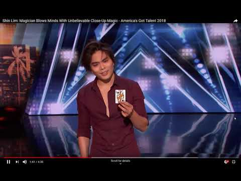 REVEALED Shin Lim Americas Got Talent - UNBELIEVABLE CARD TRICK Revealed