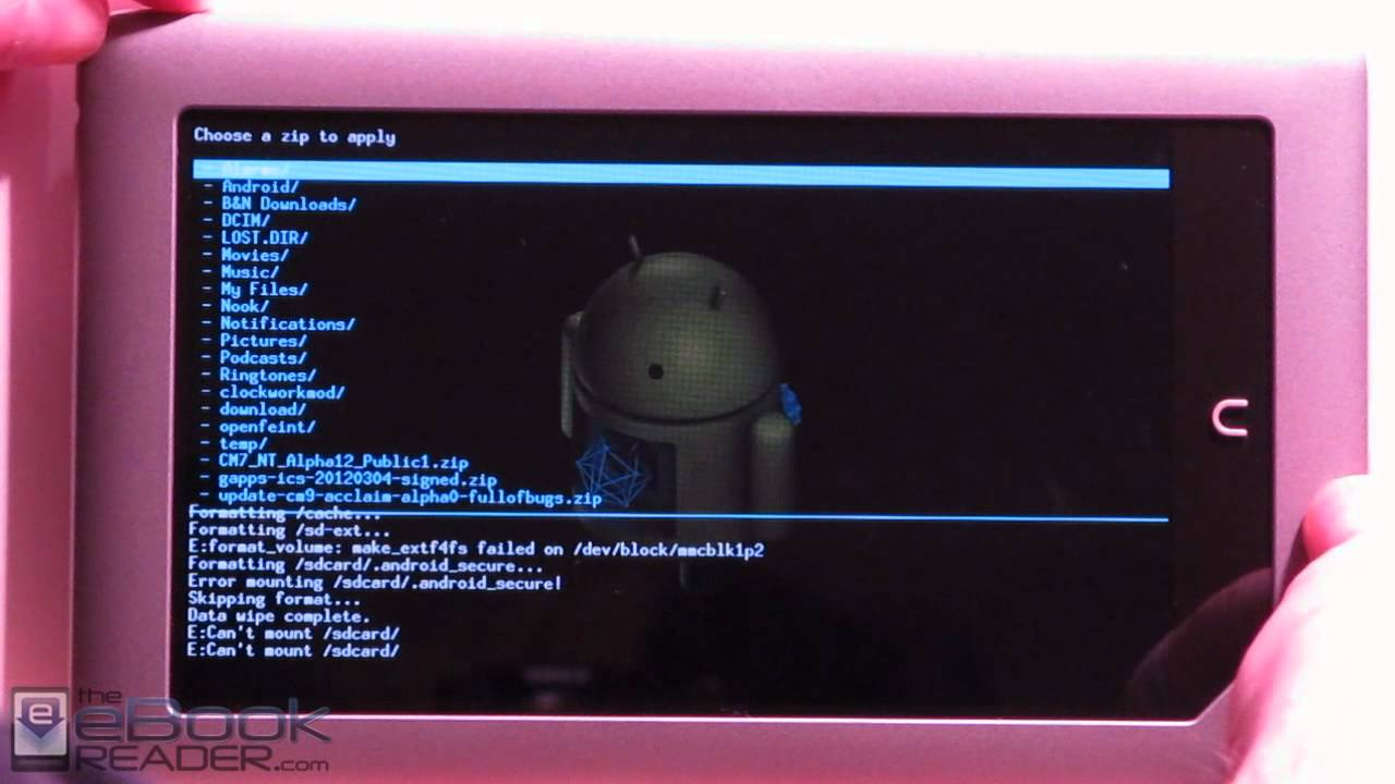 How To Install Android 40 On Nook Tablet, Plus Ics Google Apps