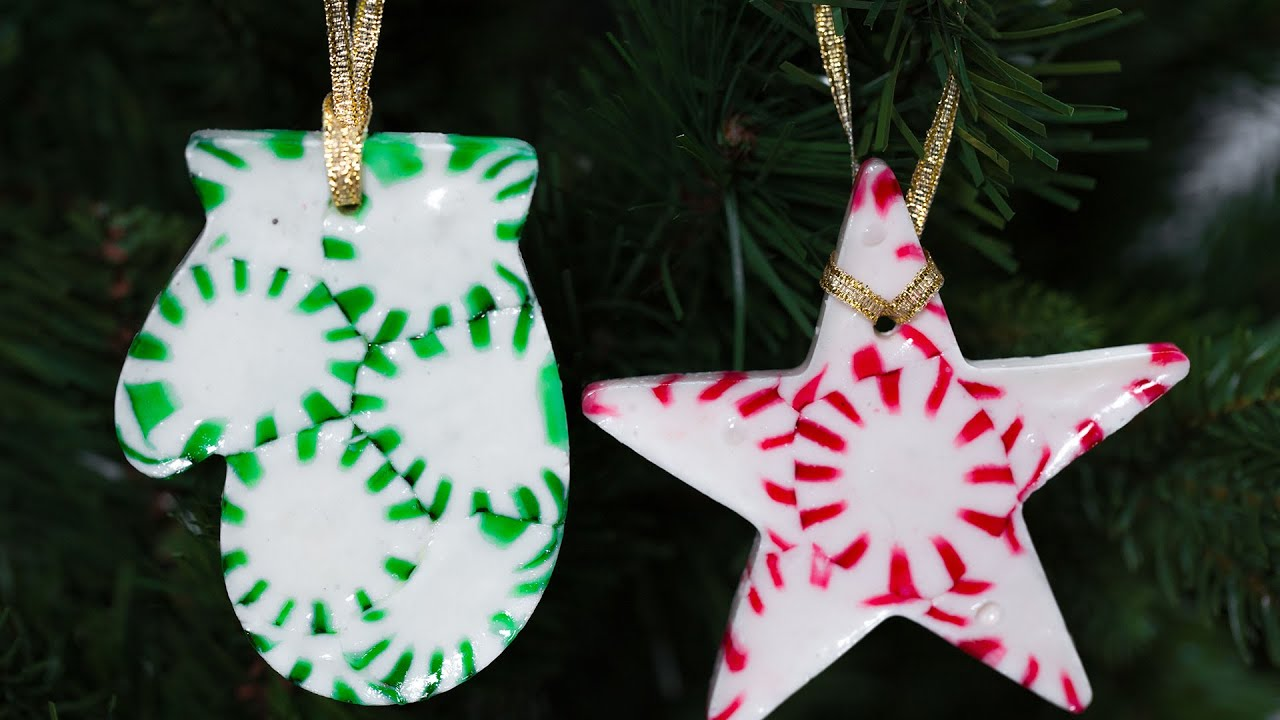 Peppermint Christmas Tree Ornaments
