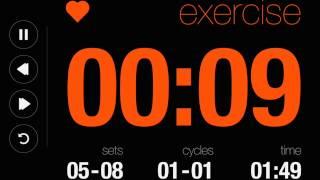 Online Tabata Interval Timer 4 Minutes (Black Theme)