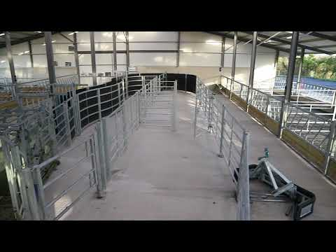 Farm buildings: impressive facilities for cattle dealer