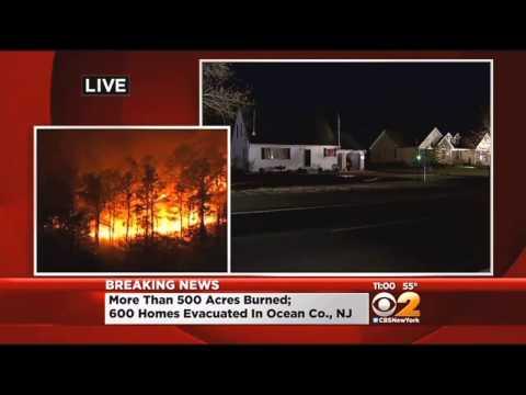 Forest Fires Rage In Ocean County, N.J.