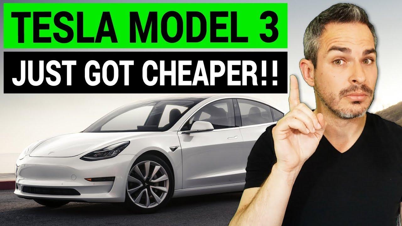 Tesla Model 3 Just Got Cheaper - YouTube