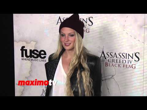 Kirby Bliss Blanton Assassin's Creed IV Black Flag Launch Party Hosted by Elijah Wood