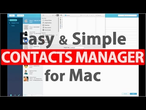 Best Contacts Manager for Mac! - Cisdem ContactsMate 3 (20% off)