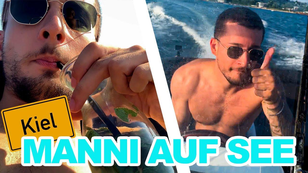 BENJI & BOSSIO auf HOHER SEE und viel MINZWASSER😂 KIEL VLOG (Manni präsentiert neuen großen LG TV😱)